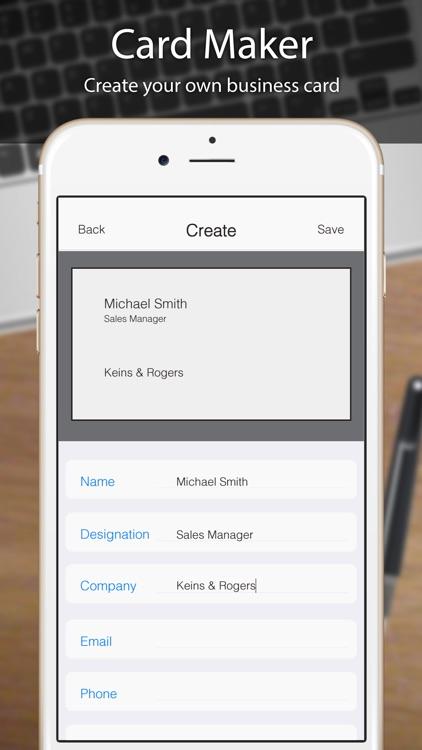Business Card Scanner, Reader screenshot-3