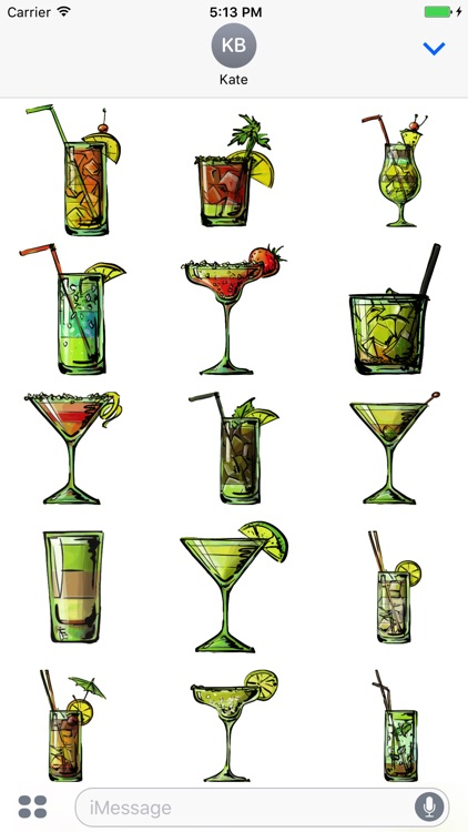 Cocktail Stickers - Yum!