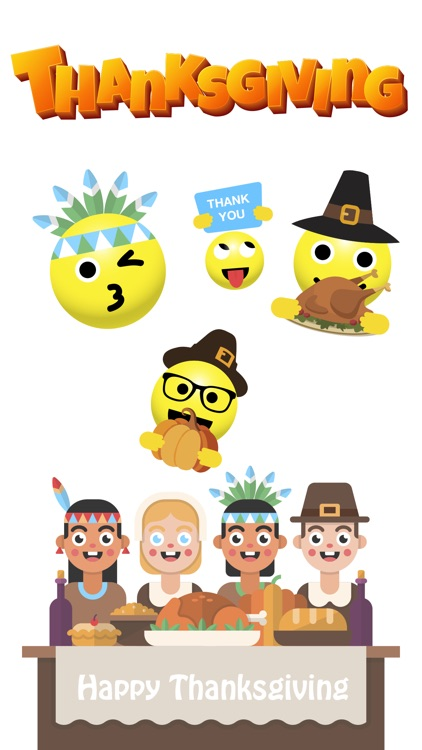 Fun Thanksgiving Sticker