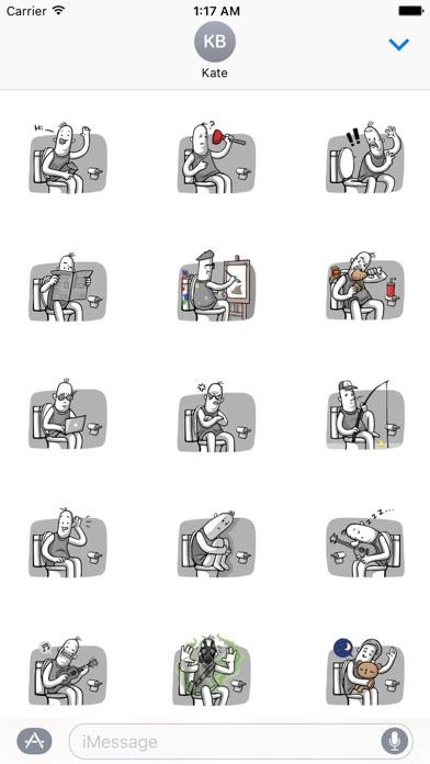 Love of Funny Couple Sticker screenshot 1