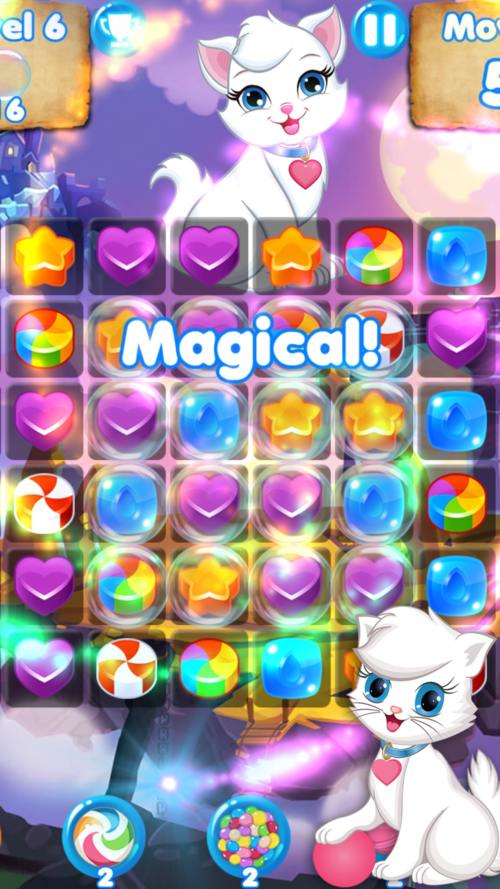 Candy Cats - Cat games and puzzle hack tool