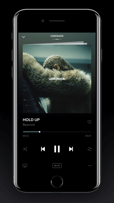 Screenshot of TIDAL App