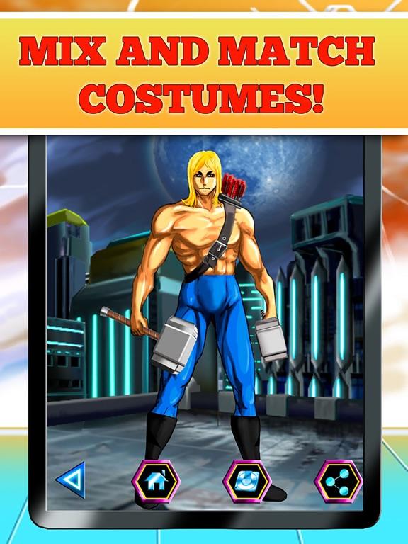 Create Your Own Superhero - Free Hero Character Costume Maker Dress Up Game screenshot