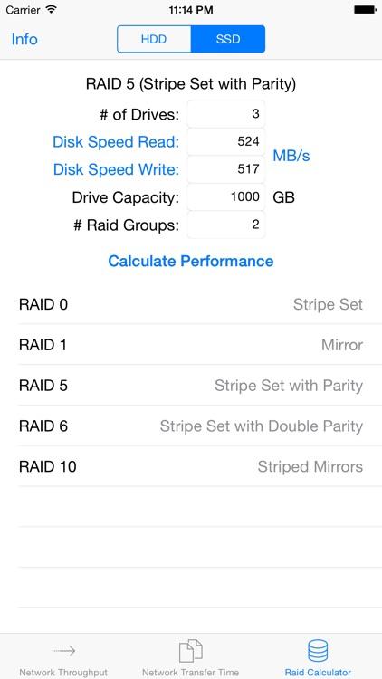 Throughput Calculator screenshot-3