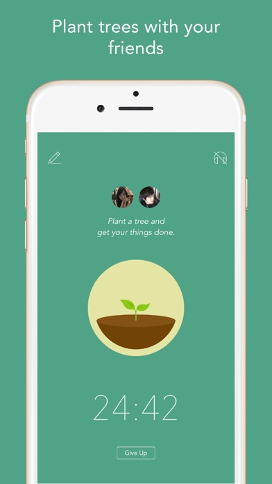 Screenshot of Forest - Stay focused App