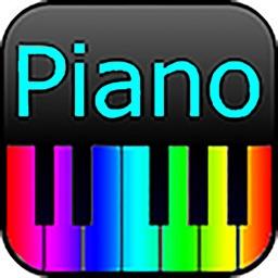 Piano à clavier arc-en-ciel