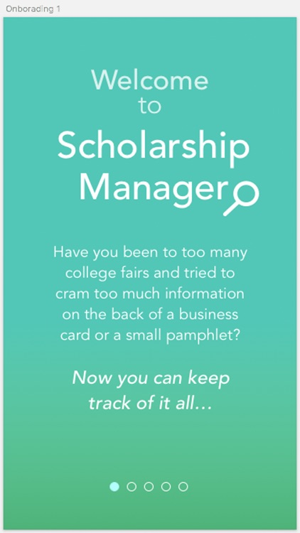 Scholarship Manager App