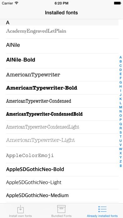 download AnyFont apps 1
