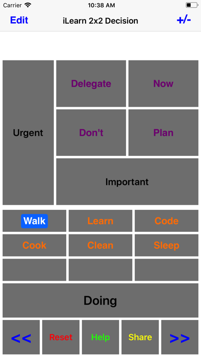 iLearn2X2 Decision screenshot one