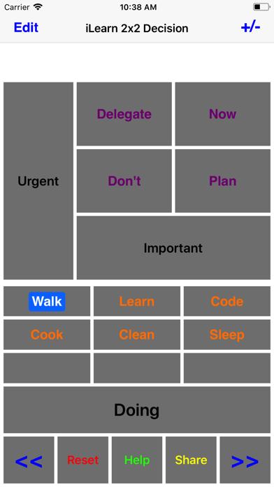 iLearn2X2 Decision screenshot one