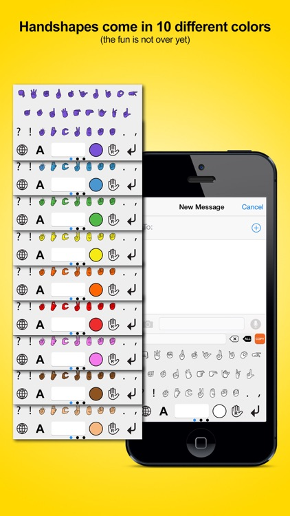 Signily Keyboard - Sign Language Emoji and GIFs! screenshot-1