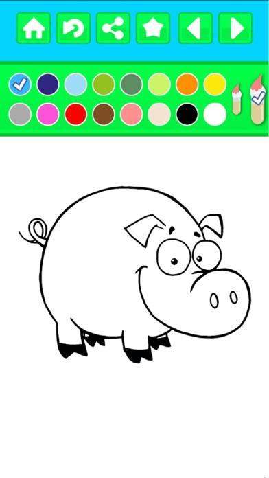 animales de granja cucú libro para colorear - niños gratis páginas ...