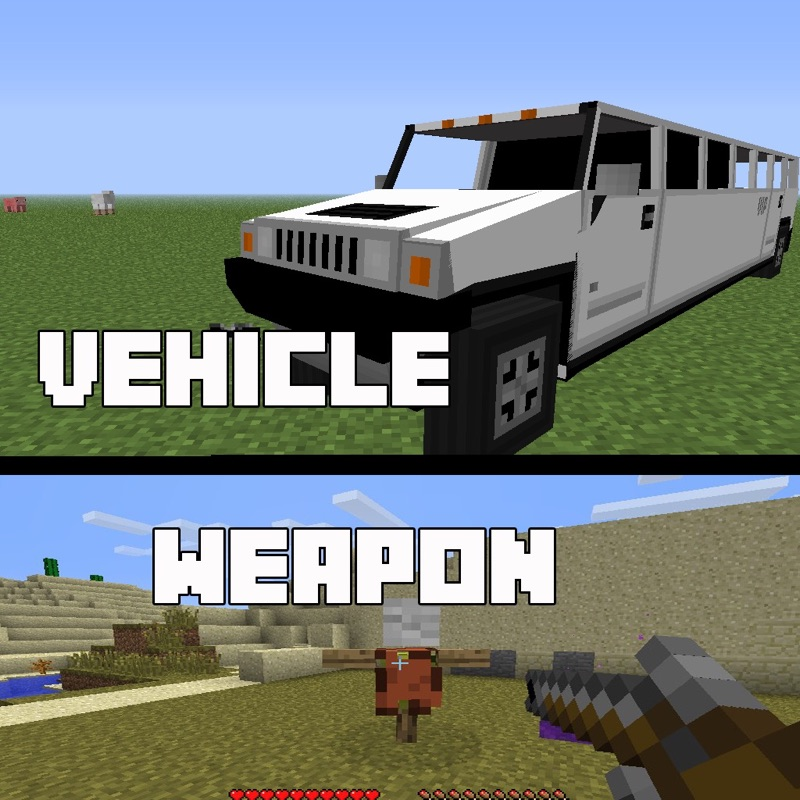 Vehicle and Weapon Mods for Minecraft PC Free Hack Tool