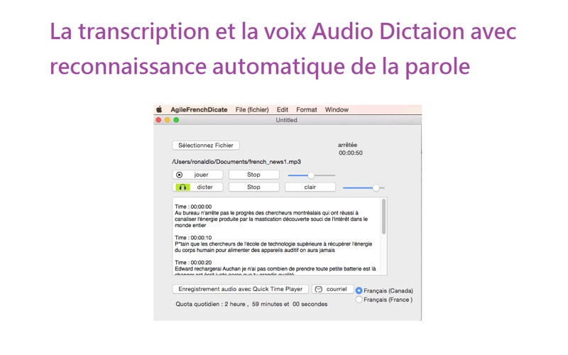 Agile French Dictate for file | App Price Drops
