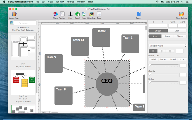 Flowchart designer pro workflow diagram design on the mac app store screenshots ccuart Images