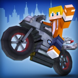 Crafting Rider | Free Motorcycle Racing Game vs Police Cars