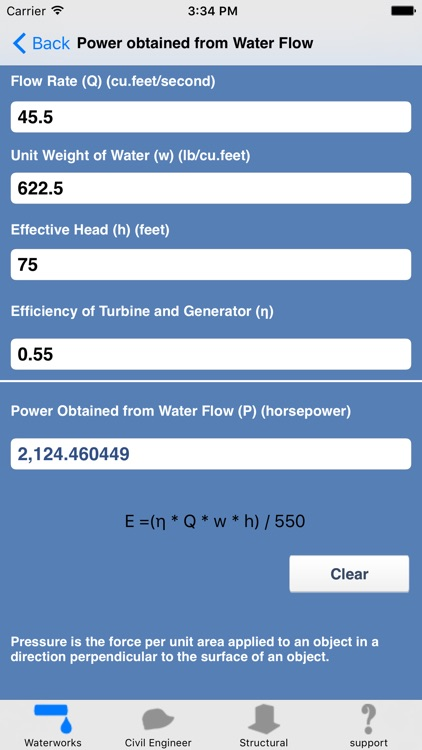 Waterworks Calculations : weirs,channels,pipes screenshot-3