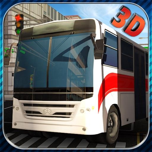 Настоящее автобус гоночный симулятор 3D - выберите населенный пункт пассажиров в транспорте и Привод тщательно в полосе движения