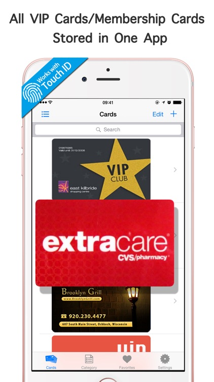 Rewards Cards Wallet Pro - Store Passbook Membership ibotta & Keep Loyalty Key Ring Circulars, Deals & Shopping Lists for CVS