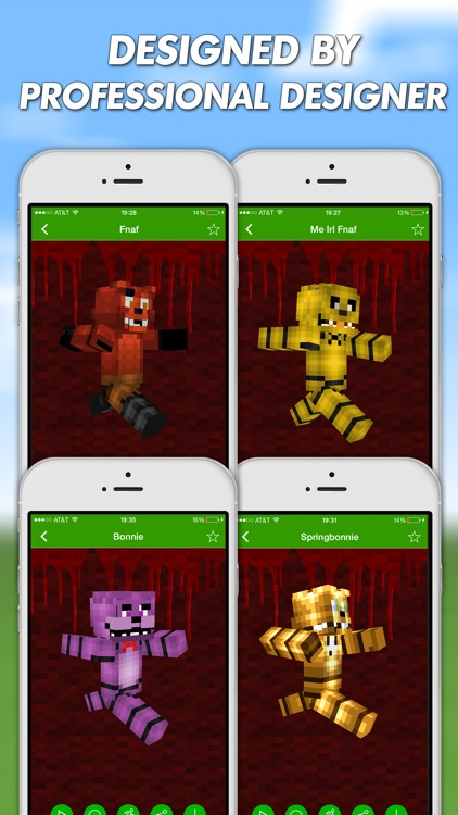 FNAF Skins For Minecraft PE (Pocket Edition) Pro by FU XIAO LONG