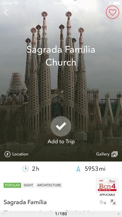 Screenshot of Trip planner Spagna & Portogallo di Tripomatic, guide turistiche e mappe offline4