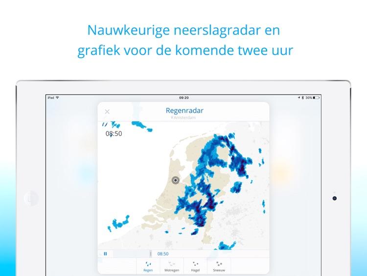 Weeronline voor iPad: jouw weer en regenradar screenshot-3