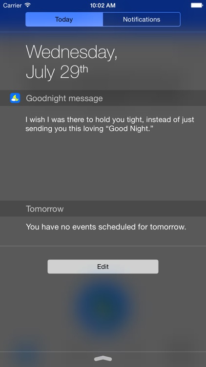 Goodnight message screenshot-2