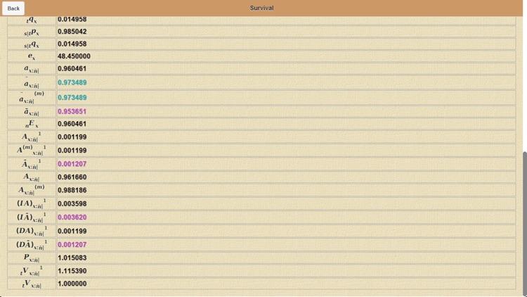 Actuarial Calculator screenshot-4