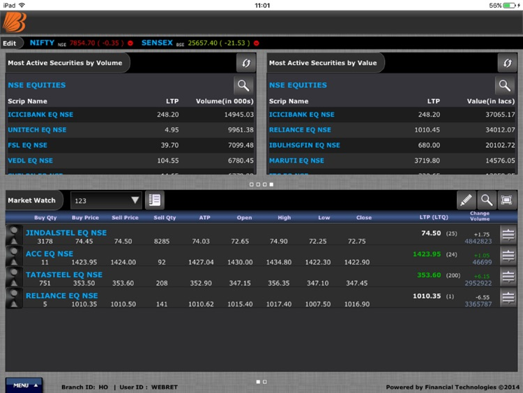 Baroda eTrade Tablet screenshot-3
