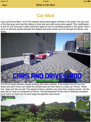 Cars Mod For Minecraft PC Ferrari Edition Vehicles Racing Car - Skins para minecraft 1 8 9