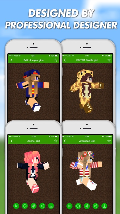 Girls Skins For Minecraft PE (Pocket Edition) & Minecraft PC
