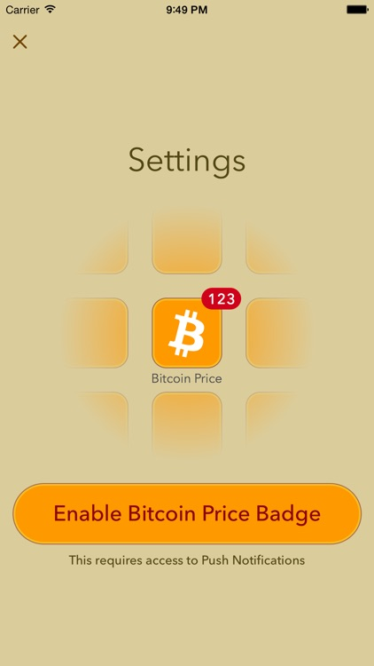 Bitcoin Price - Live price updates on app icon badge and Watch
