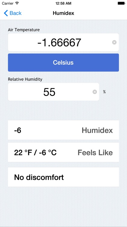 Weather Calculations - Heat Index, Wind Chill, Dew Point, and More screenshot-4