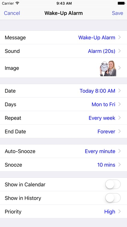 Reminders, Alarm and Voice Reminder. Remind Me App