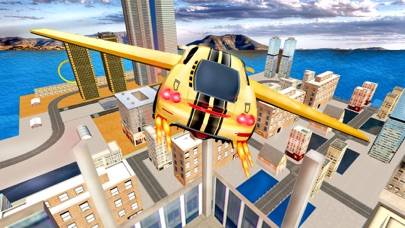 Futuristic Flying Car Drive 3D - Extreme Car Driving Simulator with Muscle Car & Airplane Flight Pilot FREEのおすすめ画像1