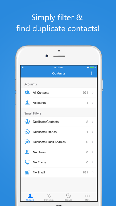 Contacts Cleanup & Merge Free - Delete Duplicate Contacts - Smart Cleaner screenshot