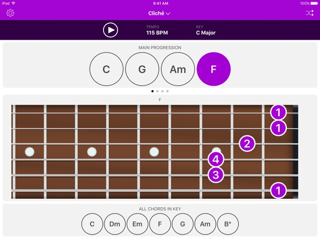 Autochords - Chord Progression Generator for guitar, keyboard and ...