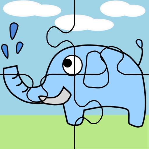 大象拼圖 icon