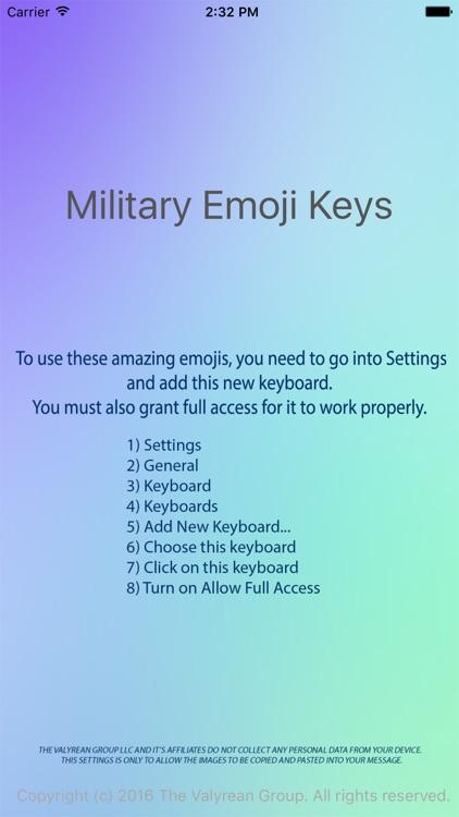 Military Emoji Keyboard screenshot-4