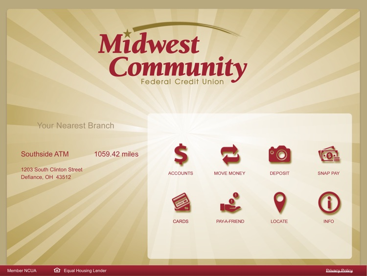 MC Mobile Banking for iPad