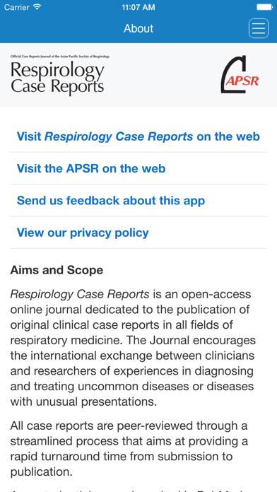 Respirology Case ReportsScreenshot of 1