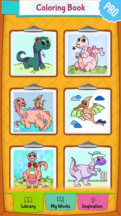 Dinosaur Coloring Pages PRO: Animal Coloring Book for Kids screenshot-4