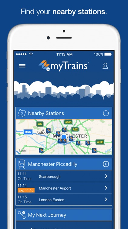 myTrains Pro train times and tickets