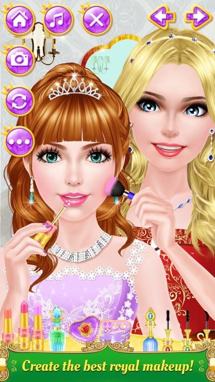 Princess Sisters Salon - Royal Beauty Makeover: SPA, Makeup & Dress Up Game for Girls