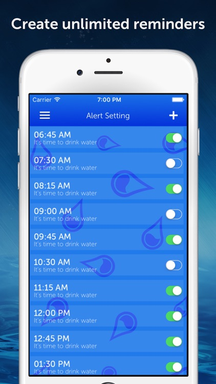 Drink Water Reminder Pro : Daily hydration tracker, monitor and counter manager screenshot-3
