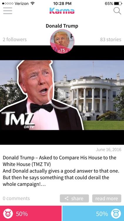 KARMA Vote on top trending celebrity news & gossip