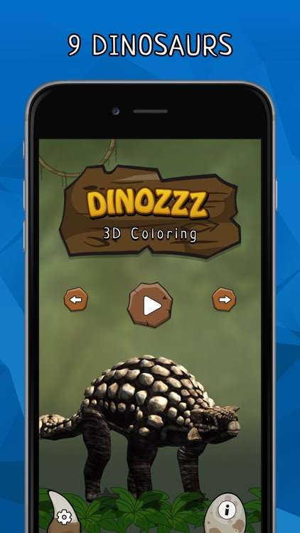 DINOZZZ - 3D Coloring MAX - unique, interactive, animated full-3D live dinosaurs coloring & painting experience for kids & adults
