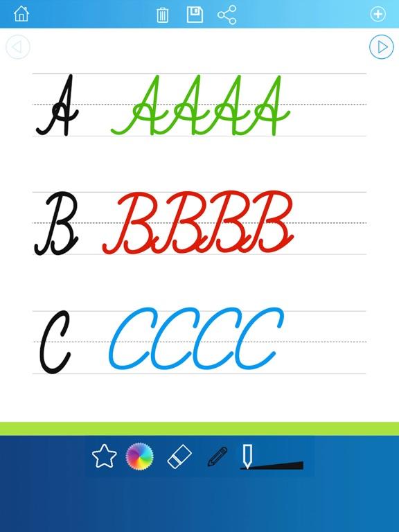 почерк рабочие листы 123 ABC обучающие игры для детей: научиться писать буквы алфавита в сценарии и прописью для iPad