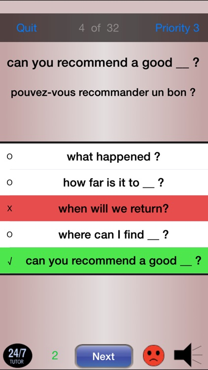 French Phrases 24/7 Language Learning screenshot-3