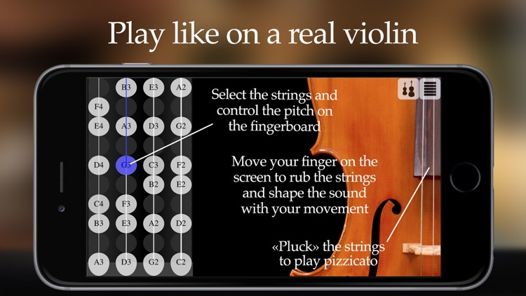 FingerFiddle - Play music like on a real violin